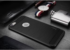 Husa iPhone 6 / 6S iPaky Fiber, Negru [1]