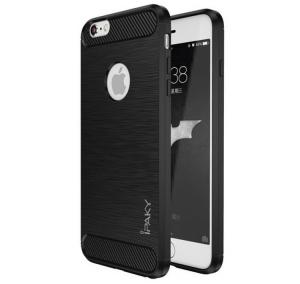 Husa iPhone 6 / 6S iPaky Fiber, Negru [0]