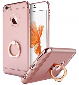 Husa iPhone 6 Plus / 6S Plus Joyroom LingPai Ring, Rose Gold0