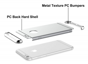 Husa iPhone 6 Plus / 6S Plus Joyroom LingPai Series, Silver3