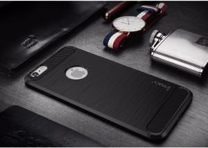 Husa iPhone 7 iPaky Fiber, Negru2
