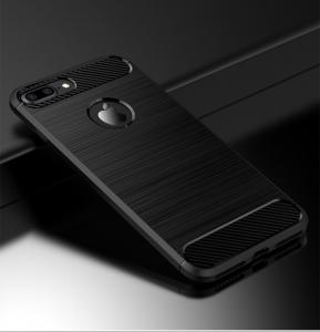 Husa iPhone 7 Plus iPaky Fiber, Negru2