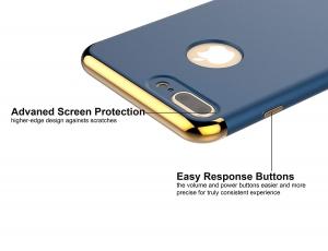 Husa iPhone 7 Plus Joyroom LingPai Series, Albastru2