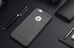 Husa iPhone 8 iPaky Fiber, Negru [1]