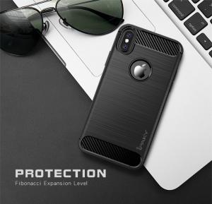 Husa iPhone X iPaky Fiber, Negru