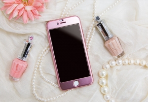 Husa Joyroom 360 + folie sticla iPhone 6 / 6S, Rose Gold1