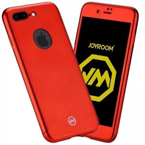 Husa Joyroom 360 + folie sticla iPhone 7 Plus, Red0