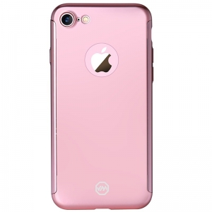 Husa Joyroom 360 + folie sticla iPhone 7, Rose Gold1