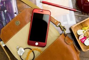 Husa Joyroom 360 + folie sticla iPhone 7, Rosu1