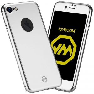Husa Joyroom 360 + folie sticla iPhone 7, Silver0