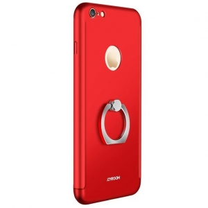 Husa Joyroom 360 Ring + folie sticla iPhone 6 Plus / 6S Plus, Red0