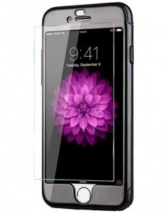 Husa Joyroom 360 Ring + folie sticla iPhone 7, Black1