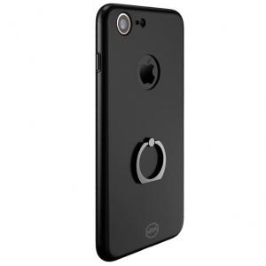 Husa Joyroom 360 Ring + folie sticla iPhone 7, Black0