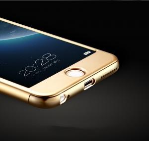 Husa Joyroom 360 Ring + folie sticla iPhone 7 Plus, Gold [3]
