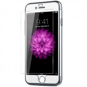 Husa Joyroom 360 Ring + folie sticla iPhone 7, Silver [1]