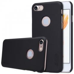 Husa Nillkin Frosted + folie protectie iPhone 7, Negru0