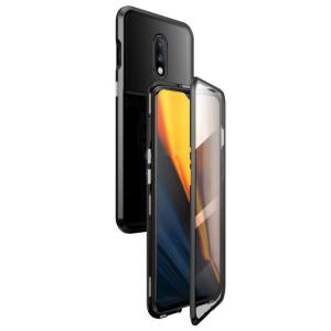 Husa OnePlus 7 Magnetic Glass 360 (sticla fata + spate), Negru [0]