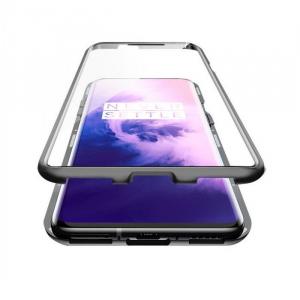 Husa OnePlus 7 Magnetic Glass 360 (sticla fata + spate), Negru [1]