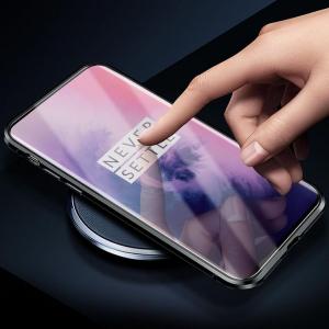 Husa OnePlus 7 Pro Magnetic Glass 360 (sticla fata + spate), Negru3