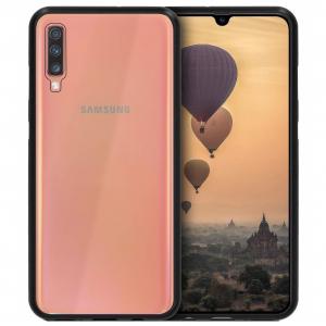 Husa Samsung Galaxy A50 Magnetic Glass 360 (sticla fata + spate), Negru0