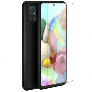 Husa Samsung Galaxy A71 Full Cover 360 + folie sticla, Negru0