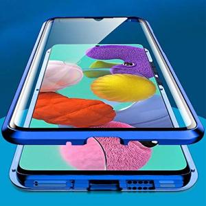 Husa Samsung Galaxy A51 Magnetic Glass 360 (sticla fata + spate), Albastru2
