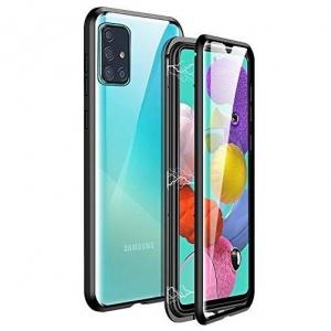 Husa Samsung Galaxy A51 Magnetic Glass 360 (sticla fata + spate), Negru0
