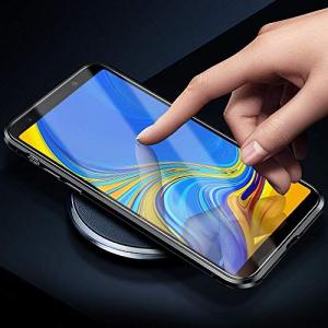 Husa Samsung Galaxy A7 (2018) Magnetic Glass 360 (sticla fata + spate), Negru3