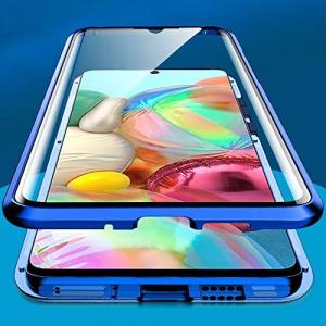 Husa Samsung Galaxy A71 Magnetic Glass 360 (sticla fata + spate), Albastru1