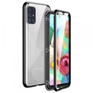 Husa Samsung Galaxy A71 Magnetic Glass 360 (sticla fata + spate), Negru0