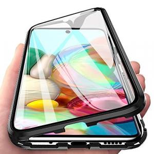 Husa Samsung Galaxy A71 Magnetic Glass 360 (sticla fata + spate), Negru1