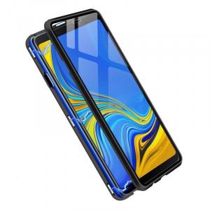 Husa Samsung Galaxy A9 (2018) Magnetic Glass 360 (sticla fata + spate), Negru2