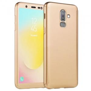 Husa Samsung Galaxy J8 (2018) Full Cover 360 + folie sticla, Gold0