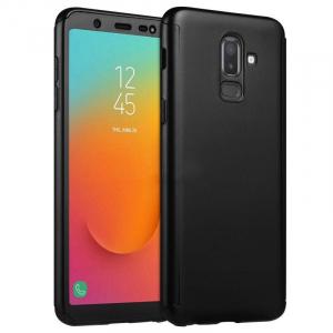 Husa Samsung Galaxy J8 (2018) Full Cover 360 + folie sticla, Negru0