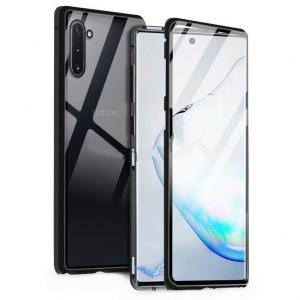 Husa Samsung Galaxy Note 10 Plus Magnetic Glass 360 (sticla fata + spate), Negru0