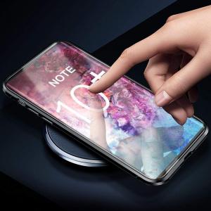 Husa Samsung Galaxy Note 10 Plus Magnetic Glass 360 (sticla fata + spate), Negru3