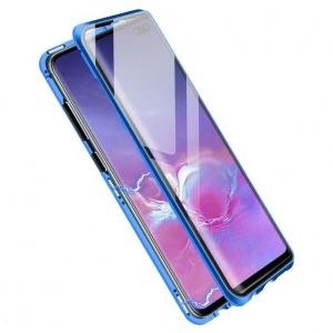 Husa Samsung Galaxy S10+ Magnetic Glass 360 (sticla fata + spate), Albastru1