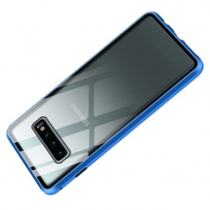 Husa Samsung Galaxy S10+ Magnetic Glass 360 (sticla fata + spate), Albastru2