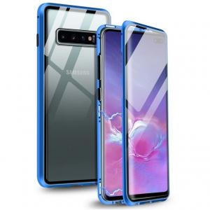 Husa Samsung Galaxy S10+ Magnetic Glass 360 (sticla fata + spate), Albastru0