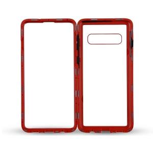 Husa Samsung Galaxy S10 Magnetic Glass 360 (sticla fata + spate), Red1