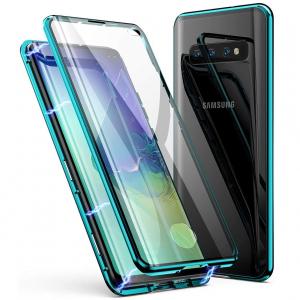 Husa Samsung Galaxy S10+ Magnetic Glass 360 (sticla fata + spate), Verde0
