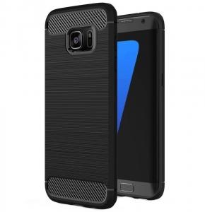 Husa Samsung Galaxy S7 Edge iPaky Fiber, Negru0