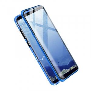 Husa Samsung Galaxy S8 Magnetic Glass 360 (sticla fata + spate), Albastru1