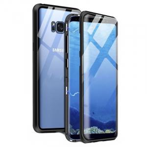 Husa Samsung Galaxy S8 Magnetic Glass 360 (sticla fata + spate), Negru [0]