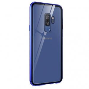 Husa Samsung Galaxy S9 Plus Magnetic Glass 360 (sticla fata + spate), Albastru1