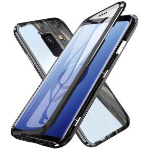Husa Samsung Galaxy S9 Plus Magnetic Glass 360 (sticla fata + spate), Negru1