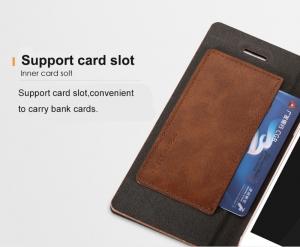 Husa tip carte Joyroom England iPhone 5 / 5S / SE, Maro2