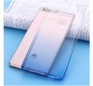 Husa TPU Gradient pentru Huawei P9, Albastru / Transparent1