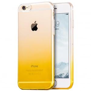 Husa TPU Gradient pentru iPhone 7, Galben / Transparent0
