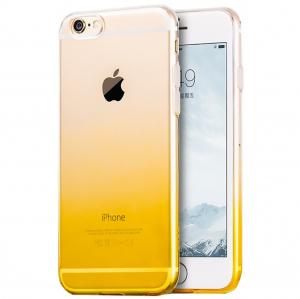 Husa TPU Gradient pentru iPhone 8, Galben / Transparent0